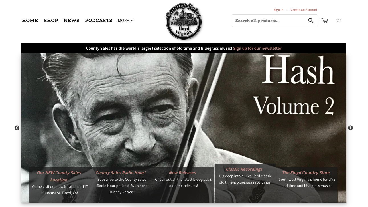 County Sales Music Homepage