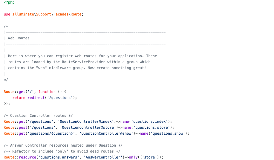 questionQueue code snippet